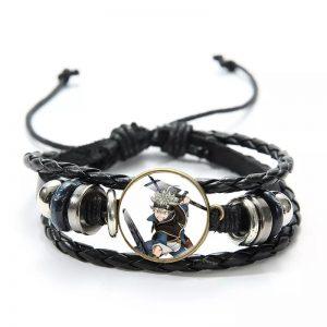 Japan Anime Black Clover Leather Bracelet Asta Yuno Noell Silva Yami Sukehiro Magna Swing Figure Bangle Jewelry Gift For fans