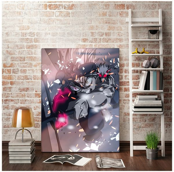 Japan Anime Black Clover Poster Canvas Comics Printed Matter Home Wall Decoration Painting Living Study Room Bedroom Child Room