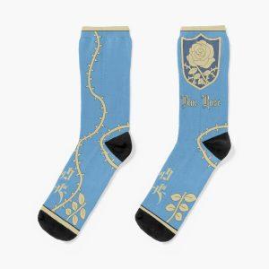 Black clover Blue Rose badge Socks RB2704product Offical Black Clover Merch