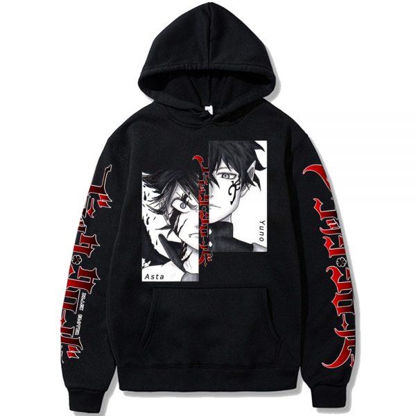 Cool Hoodie Sweatshirt Japanese Anime Harajuku Asta Graphic Hoodie Black Clover Print Clothes Hoodies Tops Clothes - Black Clover Merch Store