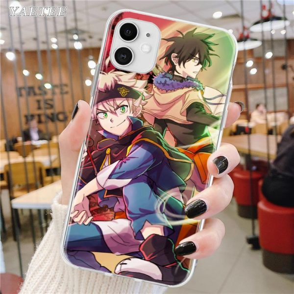 Soft Phone Case For Apple iPhone 12 11 Pro Max SE 2020 X XS MAX XR 2 - Black Clover Merch Store