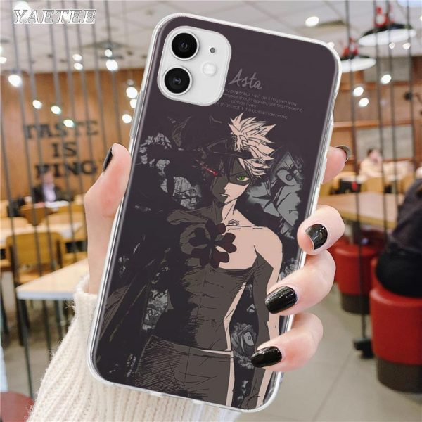Soft Phone Case For Apple iPhone 12 11 Pro Max SE 2020 X XS MAX XR 3 - Black Clover Merch Store