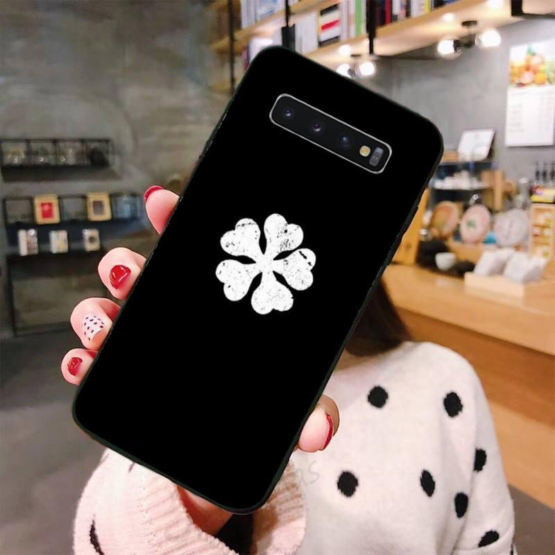 Black Clover cool horror anime Phone Case For Samsung A50 A51 A71 A20E A20S S10 S20 S21 S30 Plus ultra 5G M11 funda shell