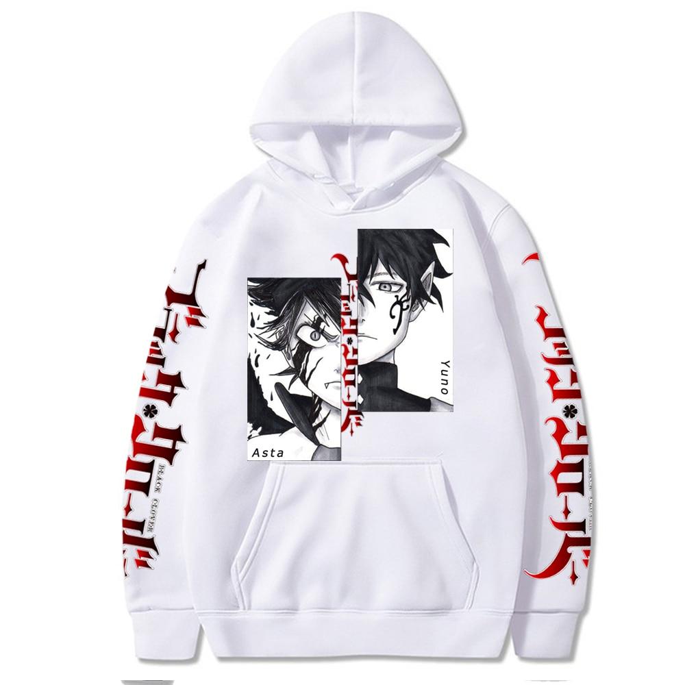 Cool Hoodie Sweatshirt Japanese Anime Harajuku Asta Graphic Hoodie Black Clover Print Clothes Hoodies Tops Clothes