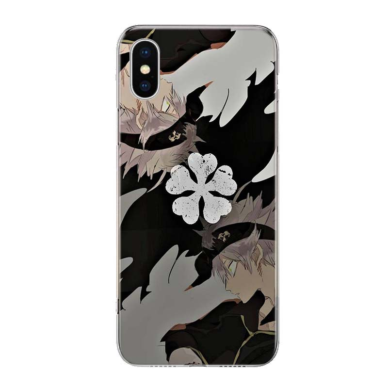 Manga Anime Black Clover Phone For Apple Iphone 13 Pro Max 11 12 Mini Case X XS XR 8 Plus 7 6 6S SE 2020 5 5S Cover Shell Coque