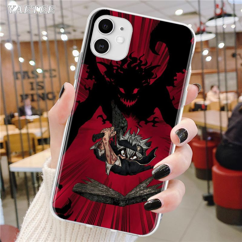 Soft Phone Case For Apple iPhone 12 11 Pro Max SE 2020 X XS MAX XR 7 8 6S Plus Fundas Capa Back Cover Black Clover Anime
